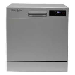 """Silver Voltas Beko 8 Place Table Top Dishwasher """