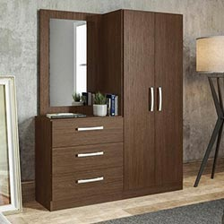 """Araki Three Drawers cum Dressing Table by Mintwud, Height: 63.0 inches """