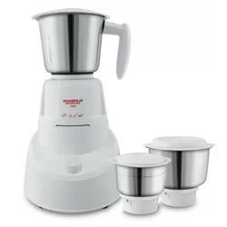 """Maharaja Whiteline Neo Stainless Steel 1 Main Unit with 3 Jars Mixer Grinder"""