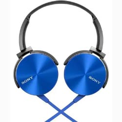 """Sony MDR-XB450AP On-Ear Blue Wired Headphone"""