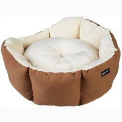 """AmazonBasics Octagon Pet Brown Bed - 20 Inch"""