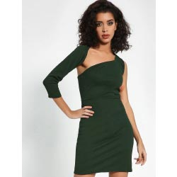 """KOOVS Cut-Out One Shoulder Bodycon Dress"""