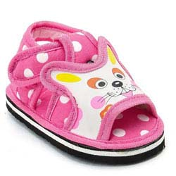"""Pink Polka Dot Cat Print Musical Solid Sandals"""